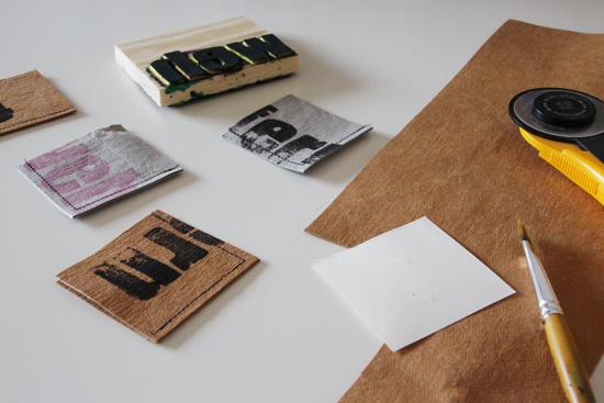 binedoro Blog, Lesezeichen, WashmePapier, nähen, DIY, bedrucken, Typo