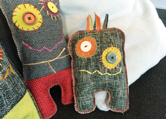binedoro Blog, Monster, Möbelstoffe, Stoffmuster, nähen, Basteln mit Kindern, nähen mit Kindern, DIY, Tutorial