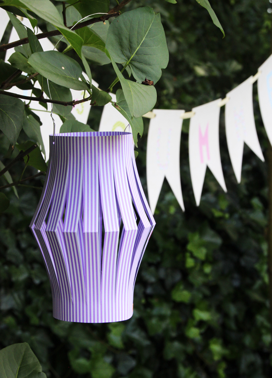 binedoro Blog, DIY, Lampions, basteln, Sommerparty, Picknick, Dekoration, Papier