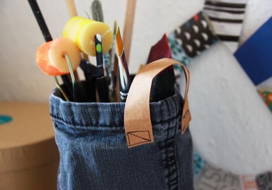 binedoro Blog, DIY, Snappap, Resteverwertung, Utensilo mit Henkel, Kabelbinder, Handyhülle, iPhone Hülle