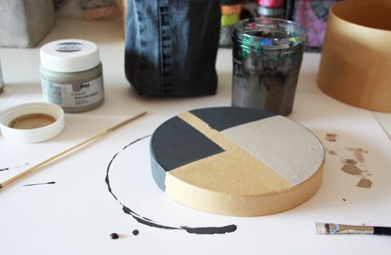 binedoro Blog, DIY, Pappschachteln, Kreidefarben, malen, Acrylfarben, Geschenkverpackung