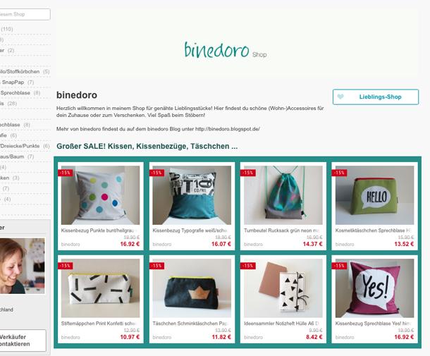 binedoro Blog, DaWanda Shop, SALE