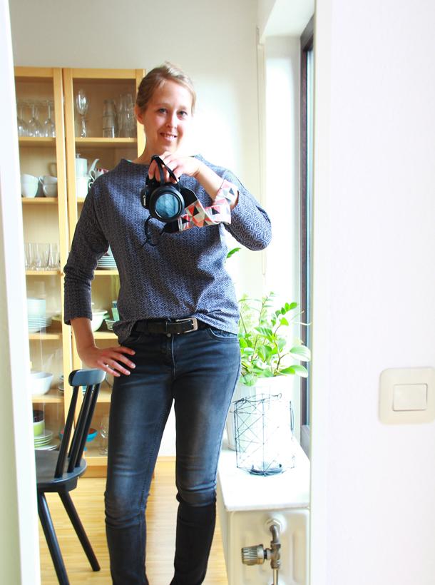Nähen ⎟ Shirt Frau Nora mal drei und Fotos vorm Spiegel