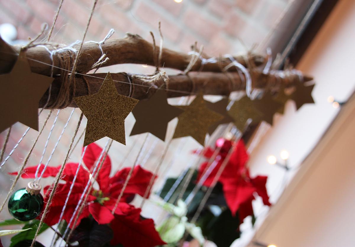 Blumenampeln Weihnachten Upcycling DIY binedoro