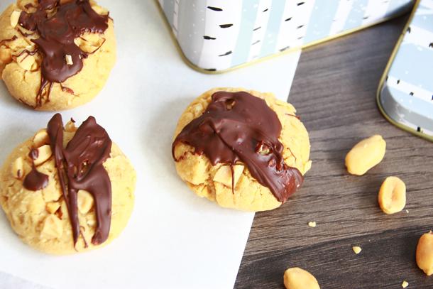 binedoro Blog, Knackige Erdnuss-Cookies mit einem Hauch Schokolade, backen, Rezept
