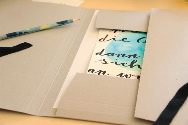 binedoro Blog, DIY, Lettering, Handlettering, Sammelmappe, gestalten