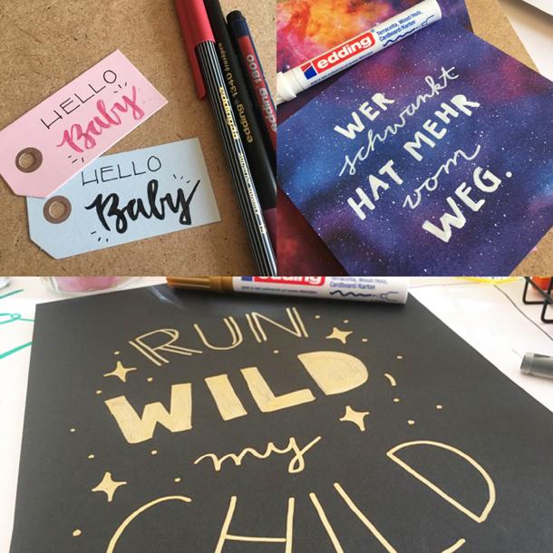 binedoro Blog, DIY, DIY-Workshop, Typografie, handlettering, brushlettering