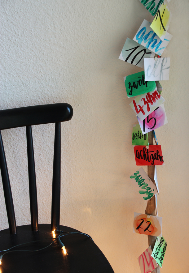 binedoro Blog, DIY, Adventskalender, Advent, Post für dich, Briefumschläge, Aquarell, Brushpens