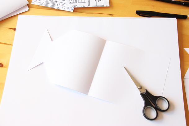 binedoro Blog, DIY, Adventskalender, Advent, Stadt, schwarz weiß, Häuser, Papier