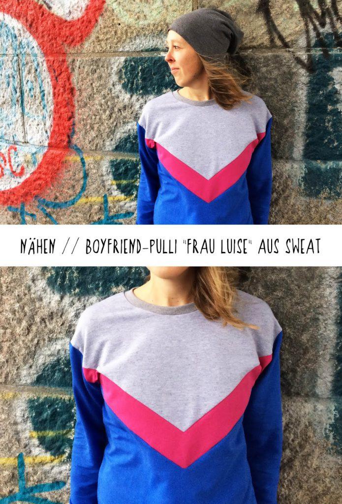 binedoro Blog, Boyfriend-Pulli Frau Luise, nähen, Sommer-Sweat, DIY
