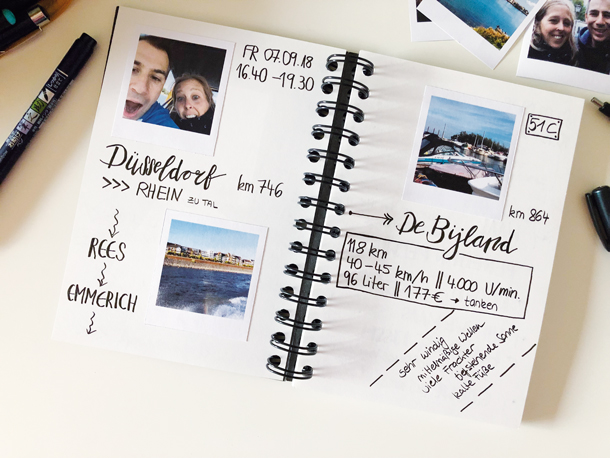binedoro Blog, Motorboot, Wassersport, Yacht, Boot fahren, Logbuch, DIY, Lettering