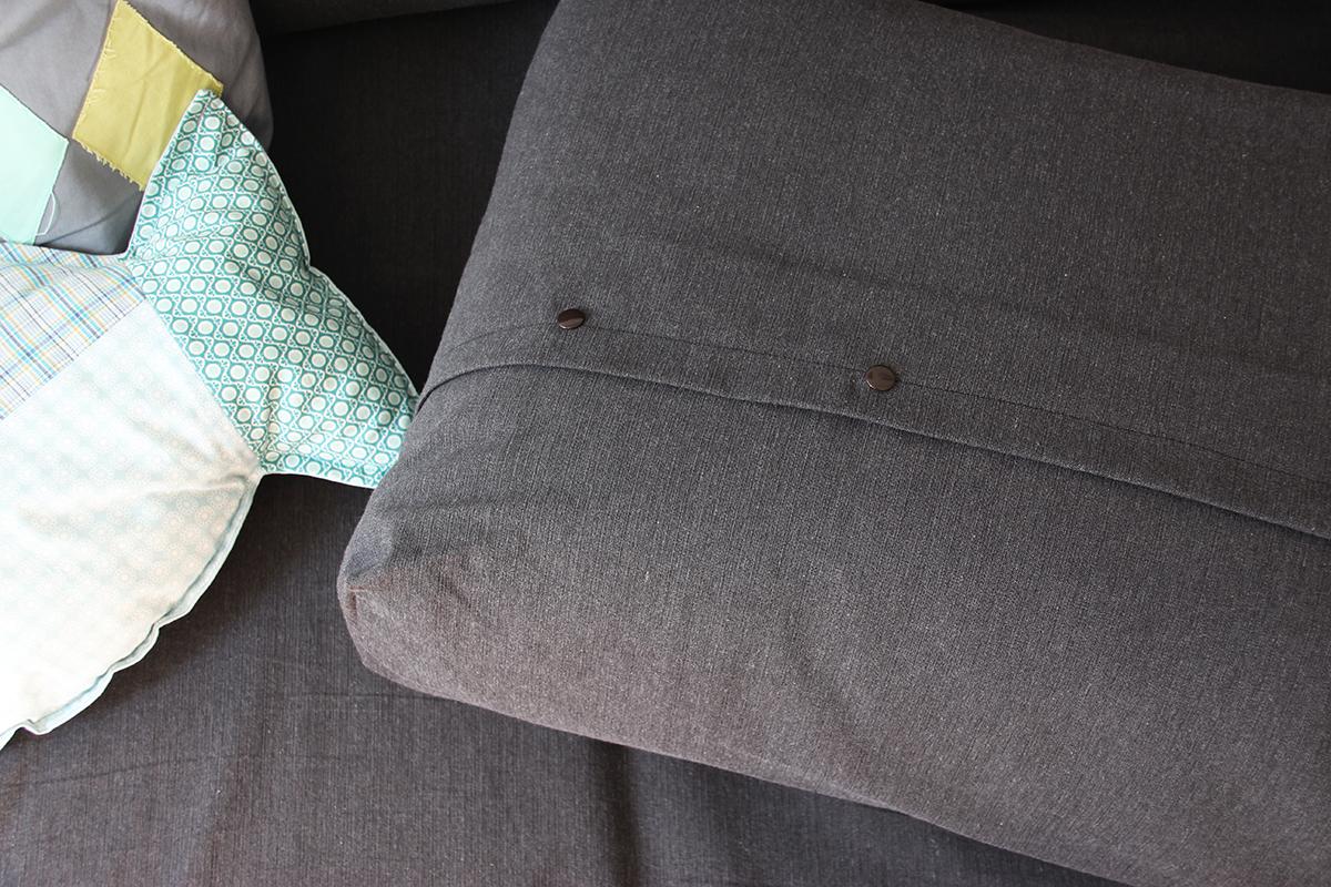 Couch, Sofabezug, nähen, DIY, Wohnzimmer, binedoro