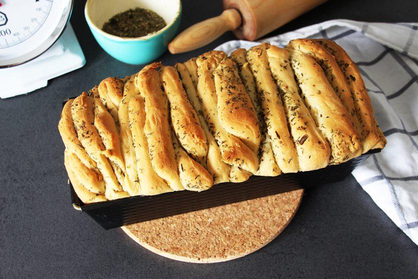 Brot, backen, Rezept, Kräuter, Zupfbrot