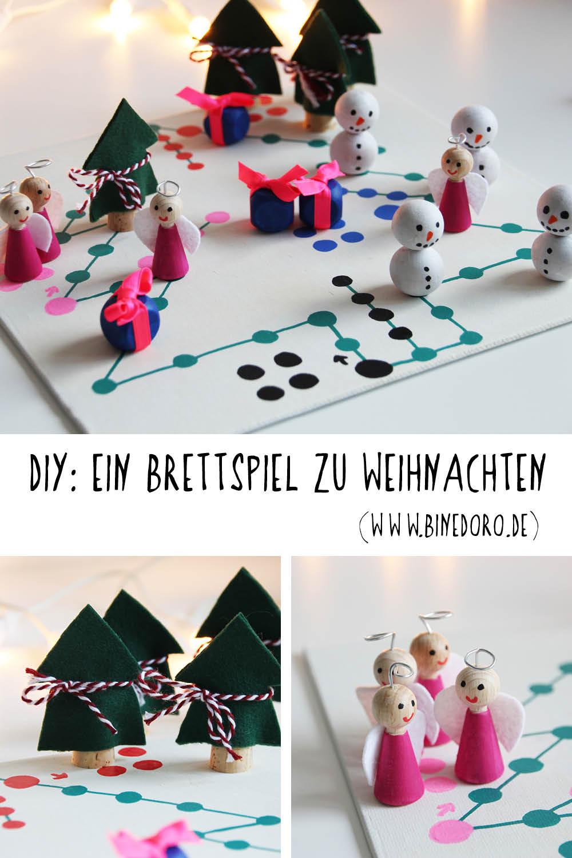 Brettspiel DIY Weihnachten Tannenbaum Engel Schneemann Geschenk binedoro