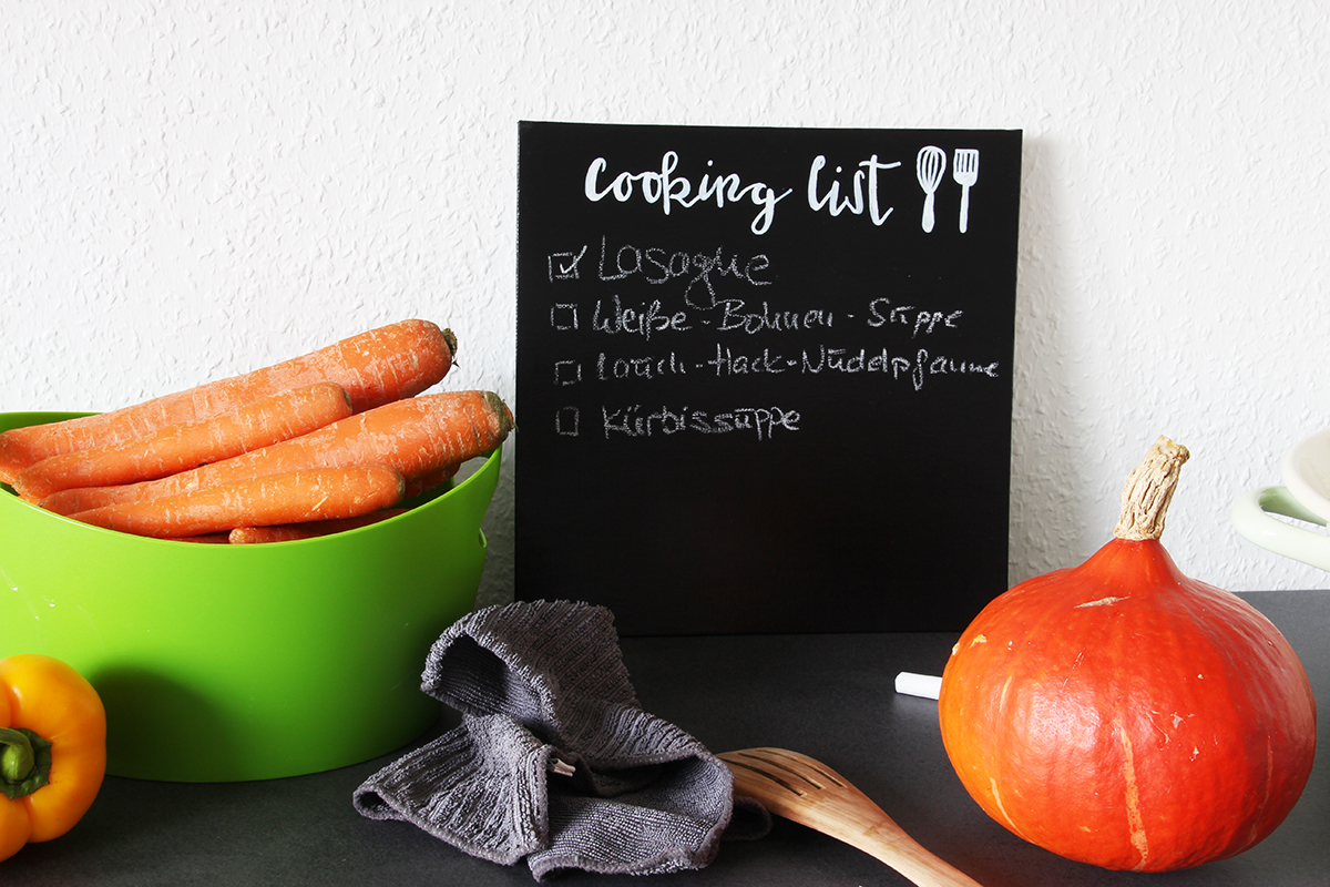 Cooking list DIY Tafel Kochliste binedoro