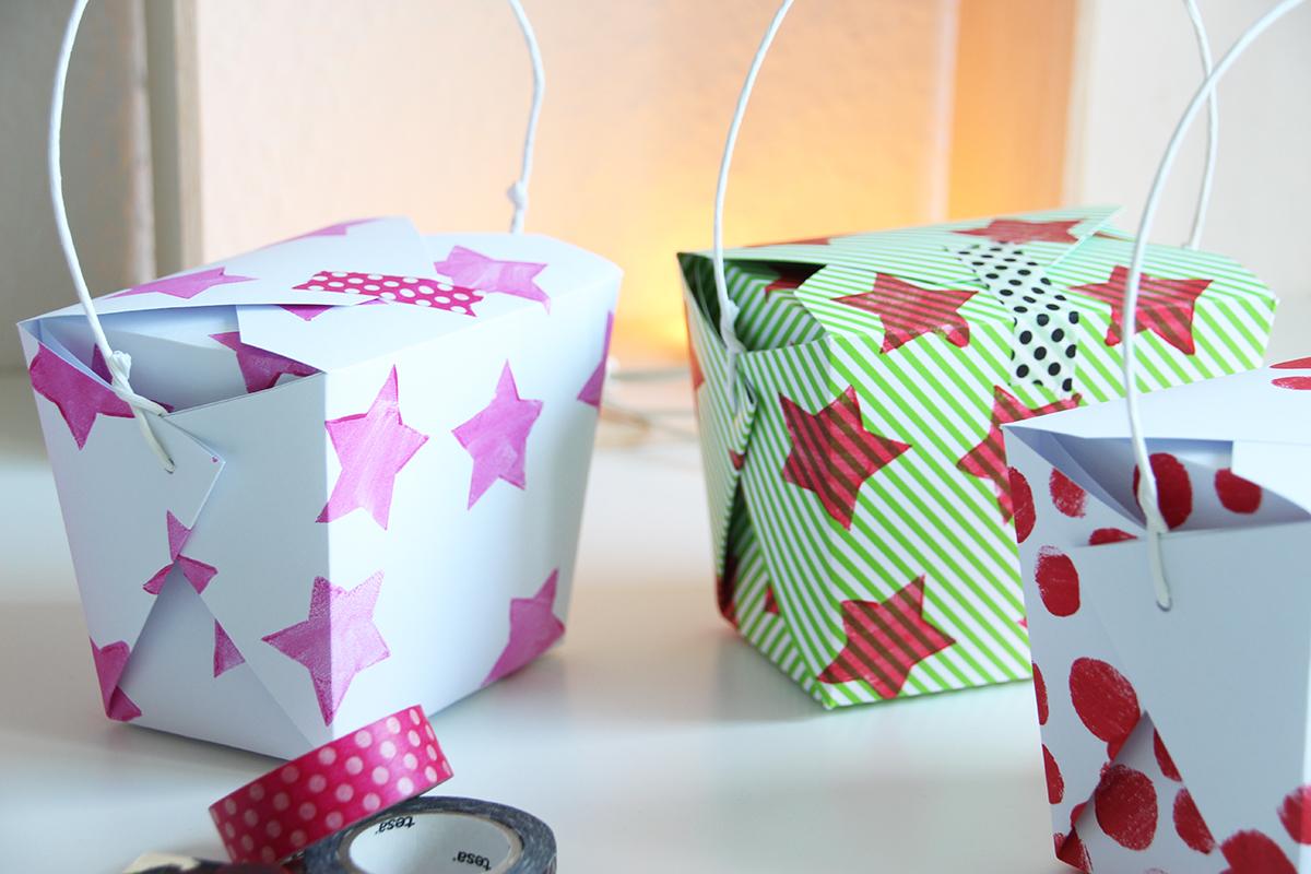 Geschenkschachtel falten DIY Vorlage zum Ausdrucken binedoro