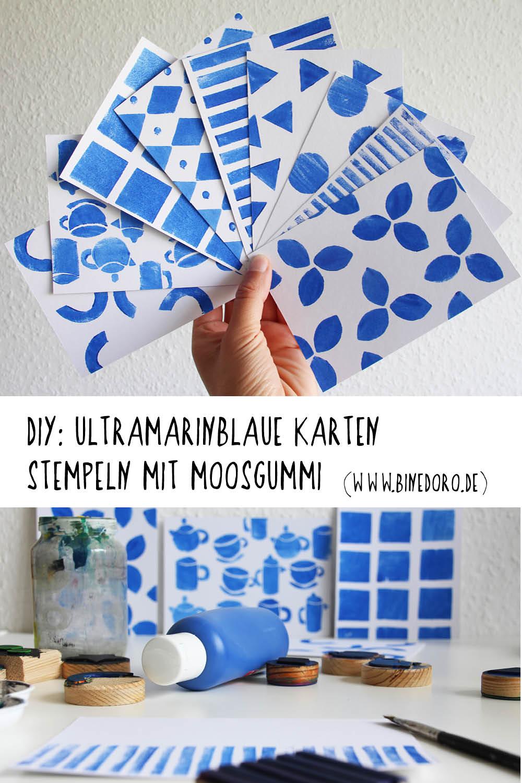 Ultramarinblaue-Karten-stempeln-Moosgummi-binedoro