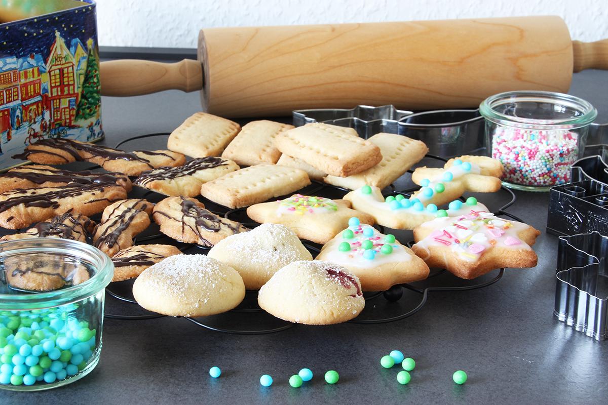 Weihnachtsplätzchen, Orangen-Butter-Kekse, backen, Rezept