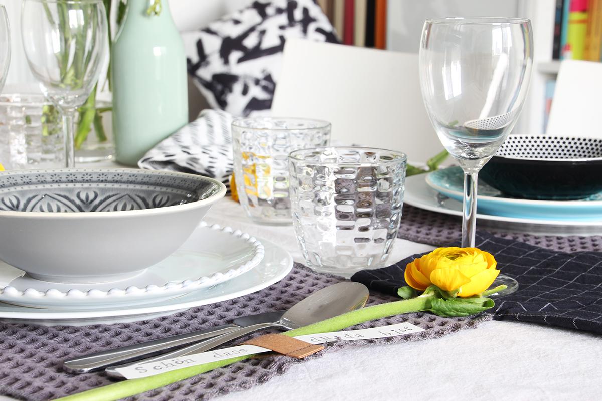 Tischsets, Stoff, Tischdekoration, Ranunkel, DIY, binedoro
