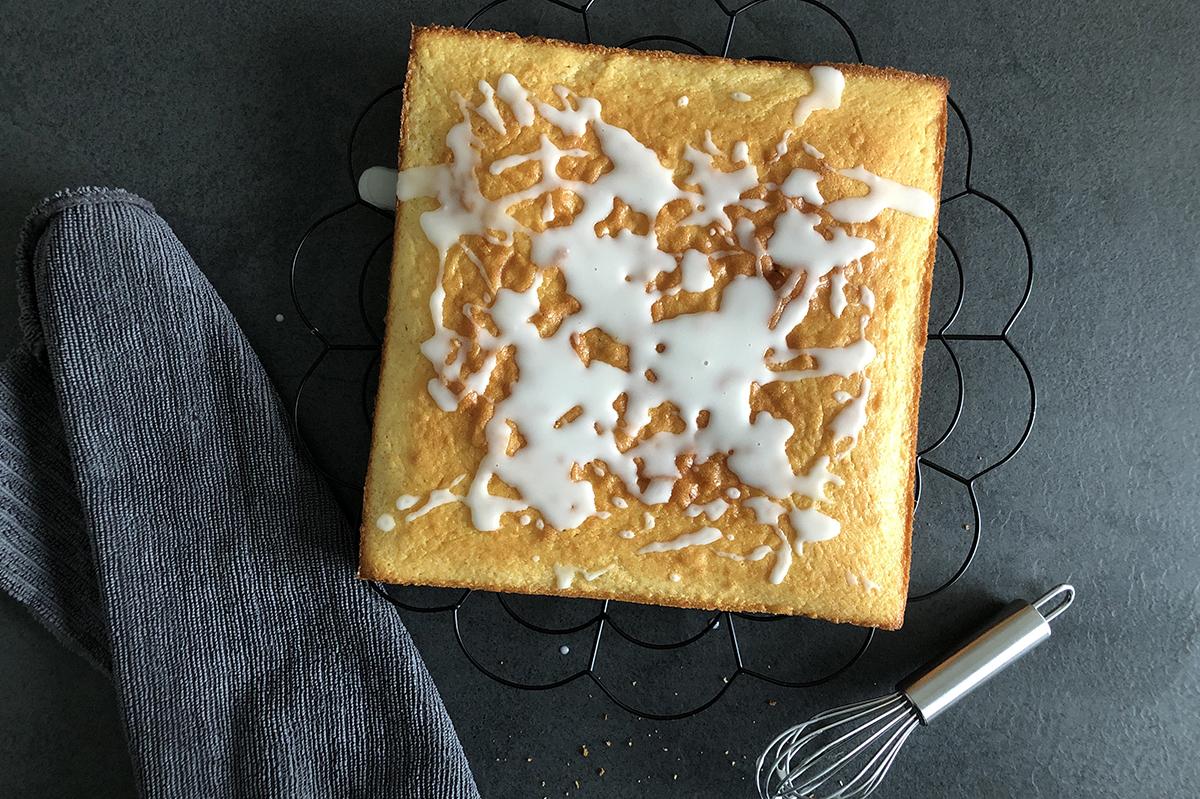 Zitronenkuchen, Kuchen, backen, Rezept, Rührkuchen, binedoro