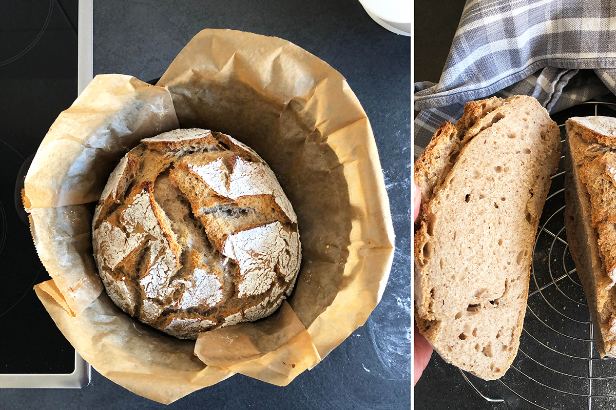 Brot, backen, Sauerteig, Lievito Madre, Sauerteigbrot, binedoro