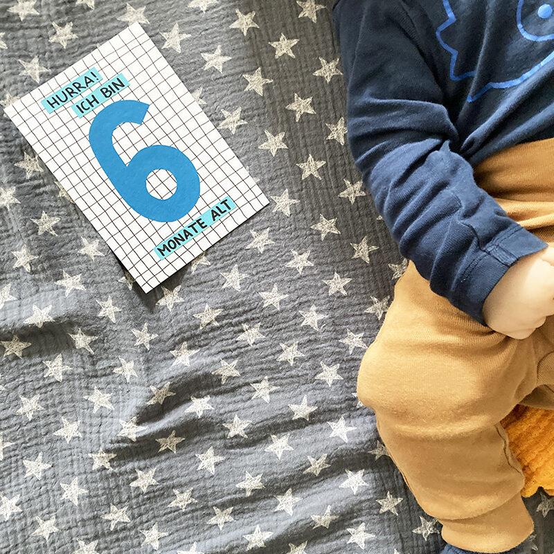 Finn, Baby, 6 Monate, Meilenstein, binedoro